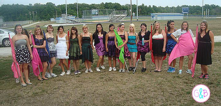"2011 Pick Your Own Theme night at band camp.  The girls chose ""Prom Queens"""